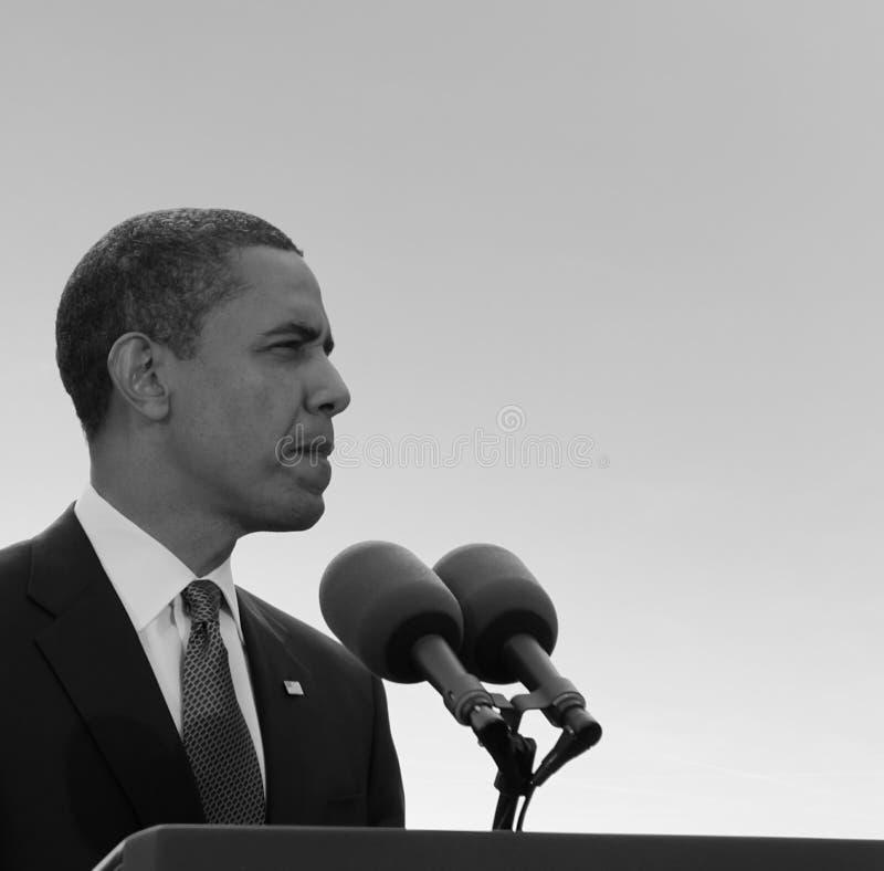 Präsident Obama in Prag stockbilder