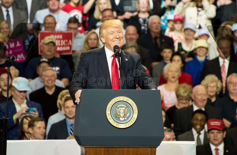 Präsident Trump stockfotos