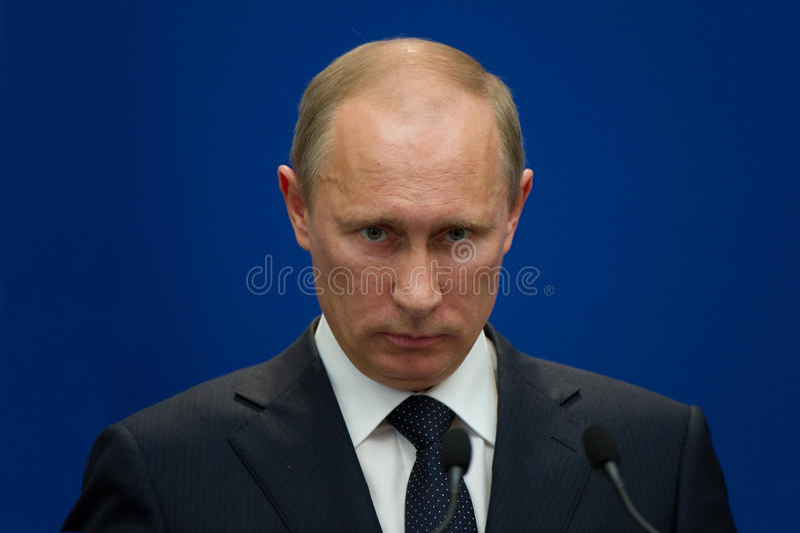 Präsident von Russland Vladimir Putin lizenzfreie stockfotografie