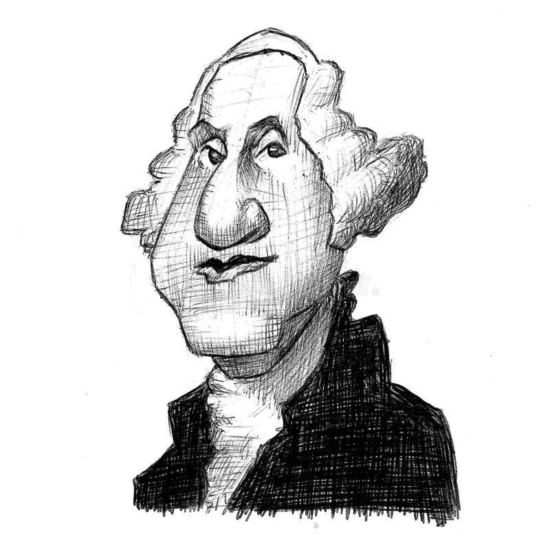 Präsidenten Vereinigter Staaten: George Washington lizenzfreie abbildung