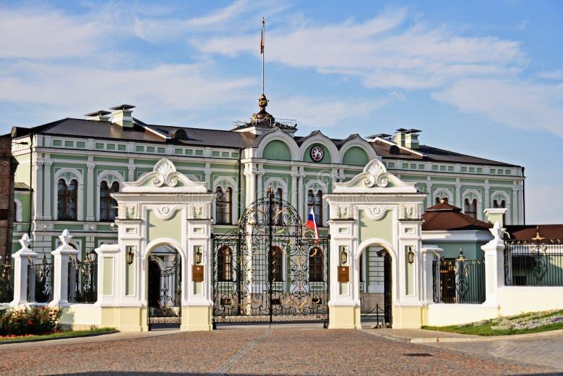 Präsidentenpalast im Kazan lizenzfreies stockbild