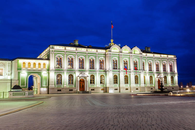 Präsidentenpalast, Kasan der Kreml lizenzfreie stockfotos