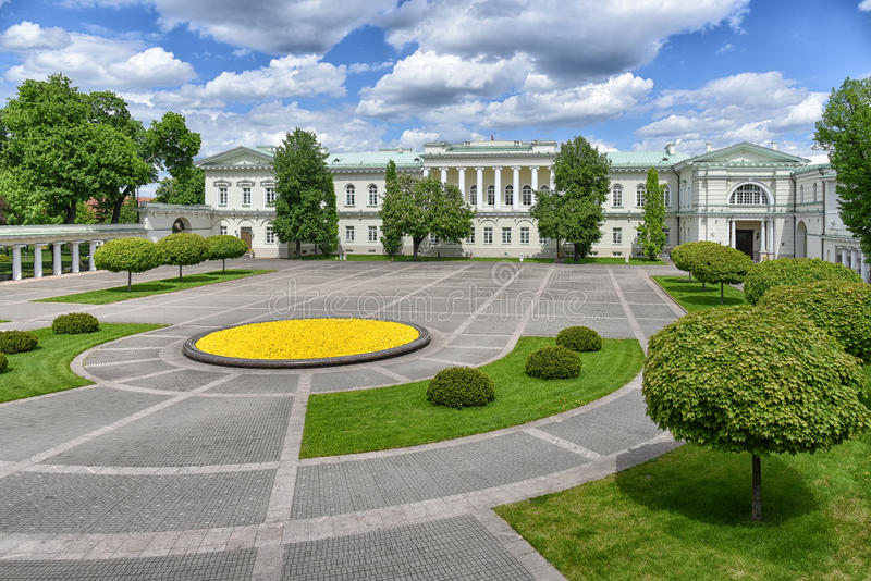 Präsidentenpalast Vilnius Litauen lizenzfreie stockfotografie