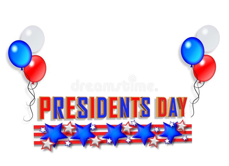 Präsidententaghintergrund 2 lizenzfreie abbildung