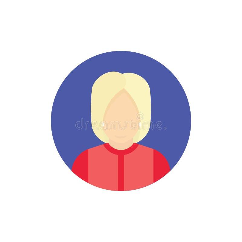 Präsidentschaftsanwärter-Ikone USA-Wahlkonzept 2016 Flache Illustration stock abbildung