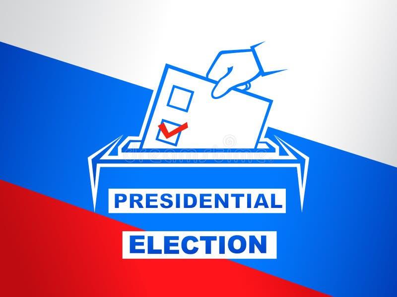 Präsidentschaftswahl in der Russland-Vektorillustration Wahltag vektor abbildung