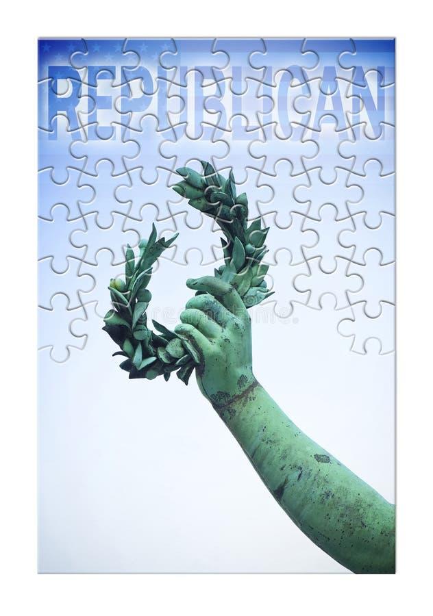 Präsidentschaftswahlen Vereinigter Staaten 2016 - Schritt für Schritt in Richtung zum Sieg - Konzeptbild lizenzfreie stockfotos