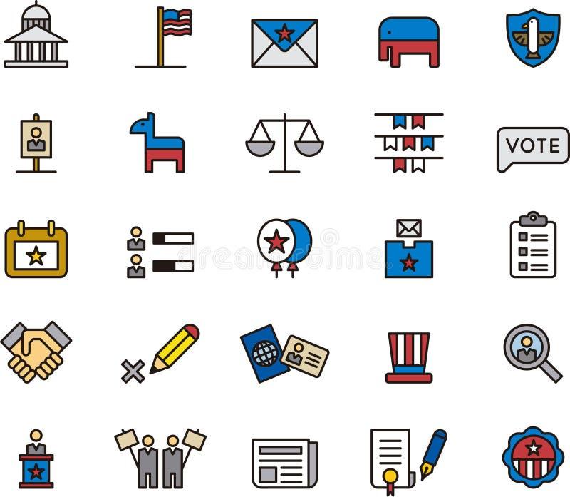 Präsidentschaftswahlikonen lizenzfreie abbildung