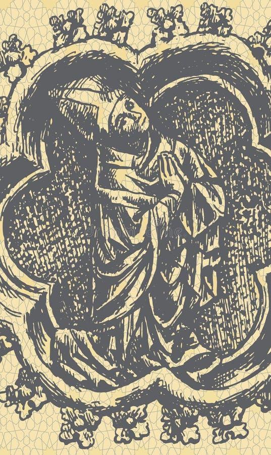 präst royaltyfri illustrationer