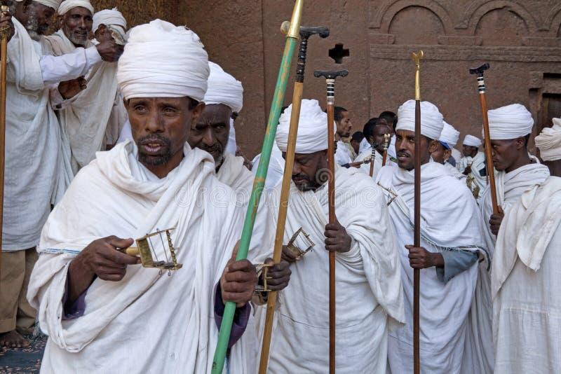 Präster Lalibela royaltyfri foto