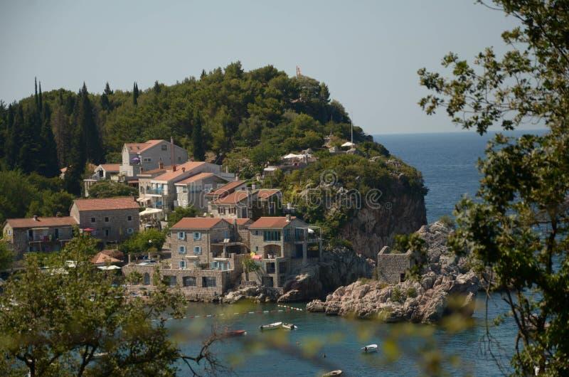 PrÅ ¾ geen stad in Montenegro in het jaar van 2017 royalty-vrije stock fotografie