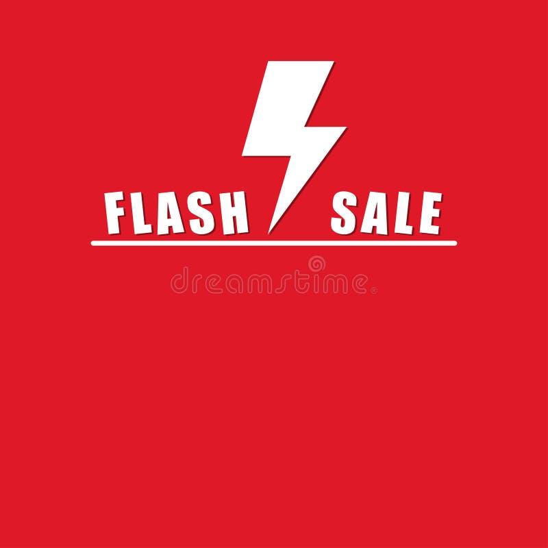 Prålig försäljning på falsk röd bakgrund upp stock illustrationer