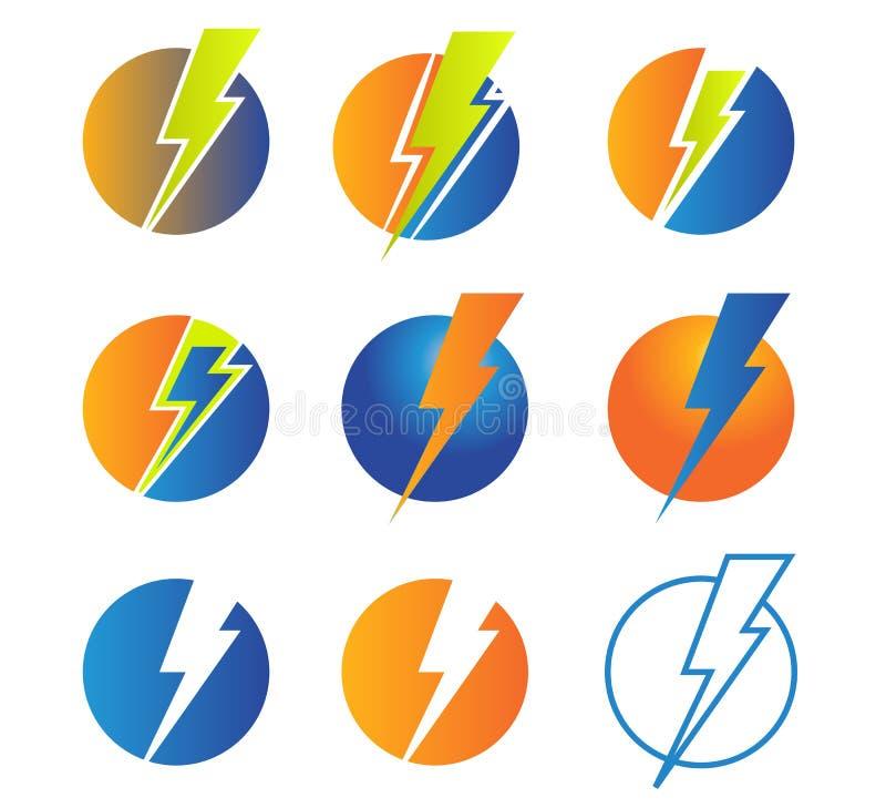 prålig makt av energi och den elektriska illustrationen royaltyfri illustrationer