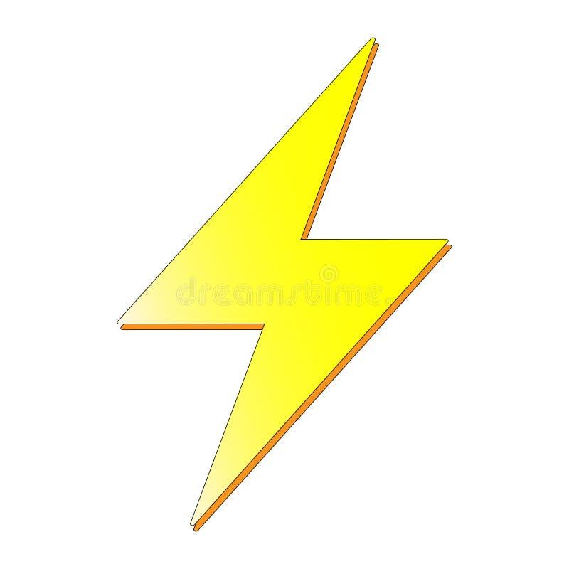 Prålig symbol, energimaktvektor isoluted på den vita bakgrunden royaltyfri illustrationer