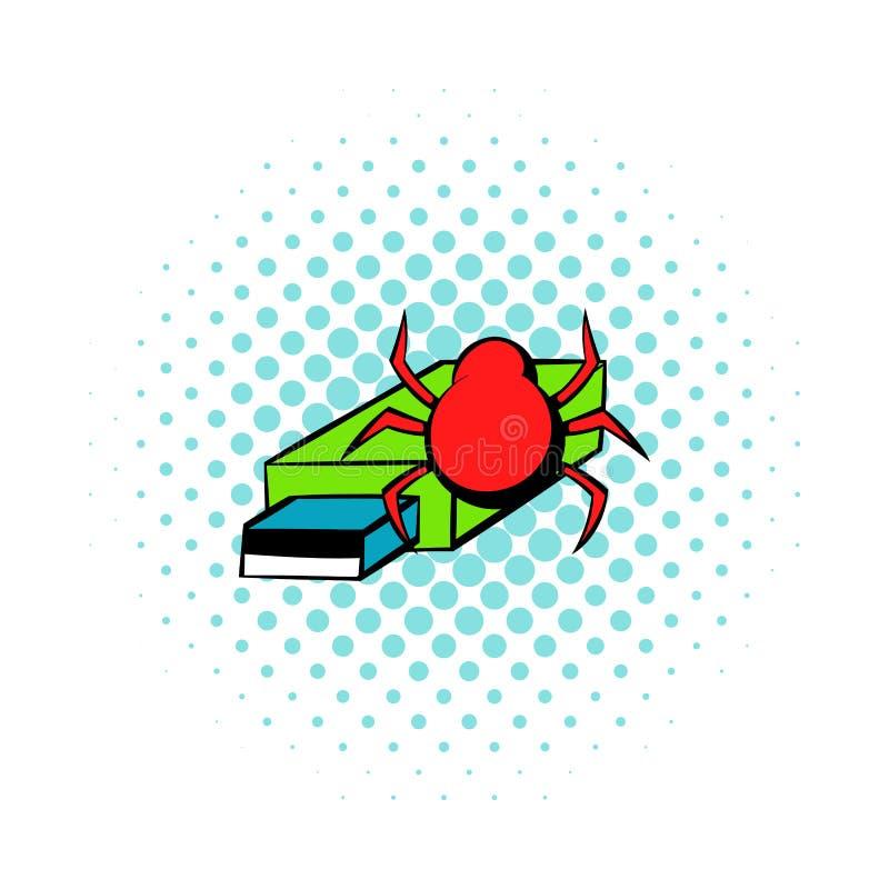 Pråligt drev som smittas av virussymbolen, komiker utformar vektor illustrationer