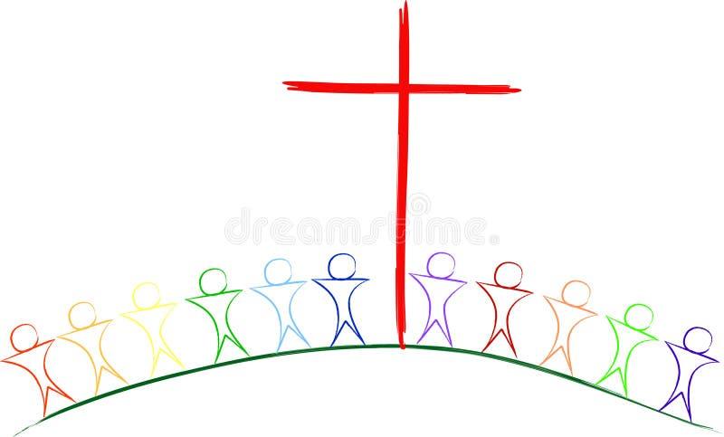 Près de la croix illustration libre de droits