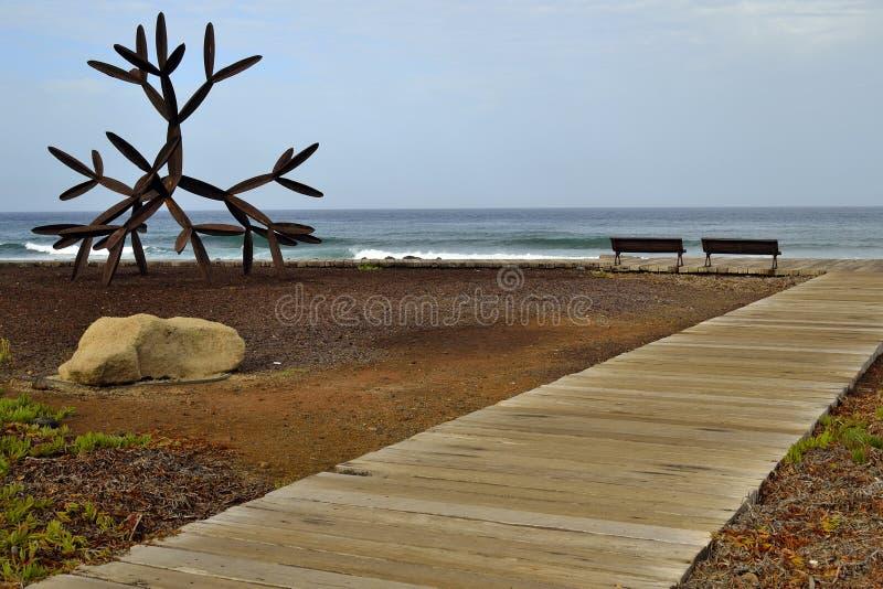 Près de la plage de visibilité directe Christianos photo libre de droits