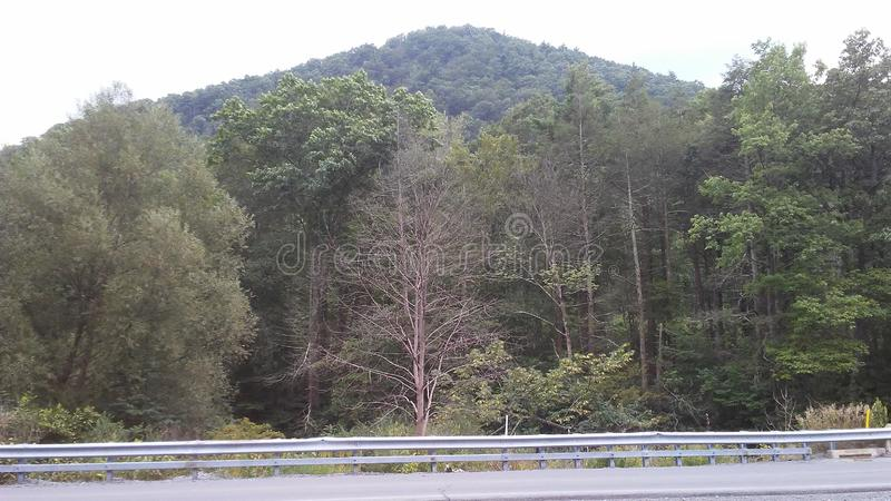 Pr?s des collines de Lamar Pennsylvania images libres de droits
