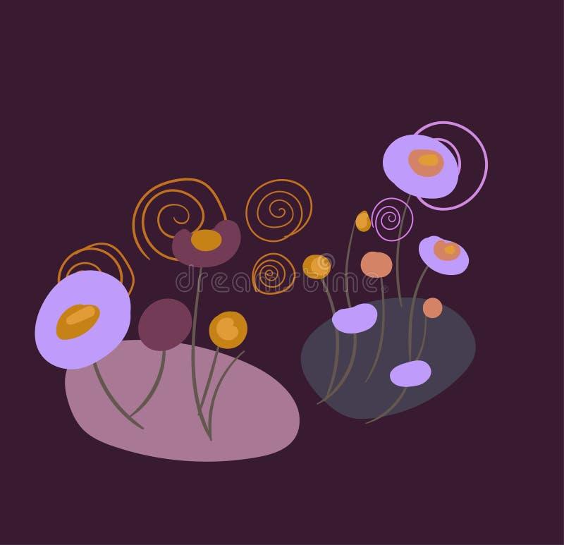 Pré formel de composition en conception stylisée florale de vecteur illustration libre de droits