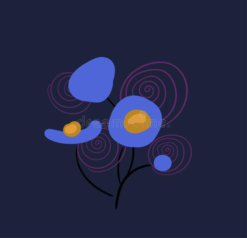 Pré formel de composition en conception stylisée florale de vecteur illustration stock