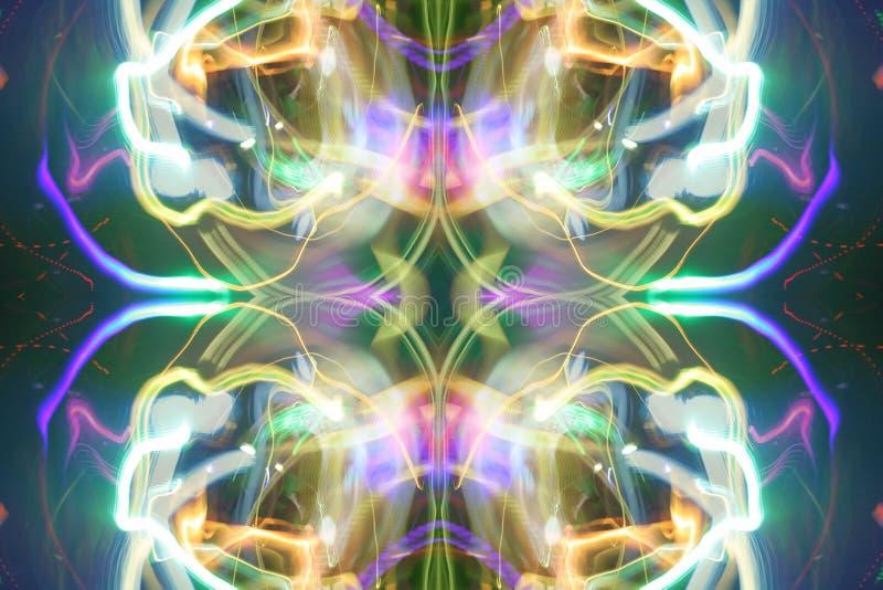 Précipitation de lumière de disco image libre de droits
