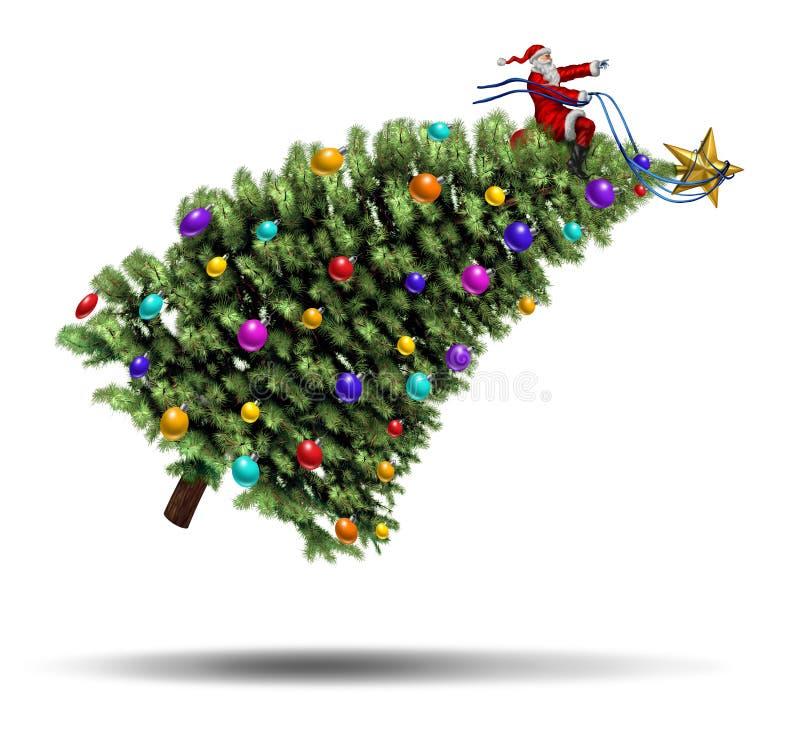 Précipitation de Noël illustration de vecteur