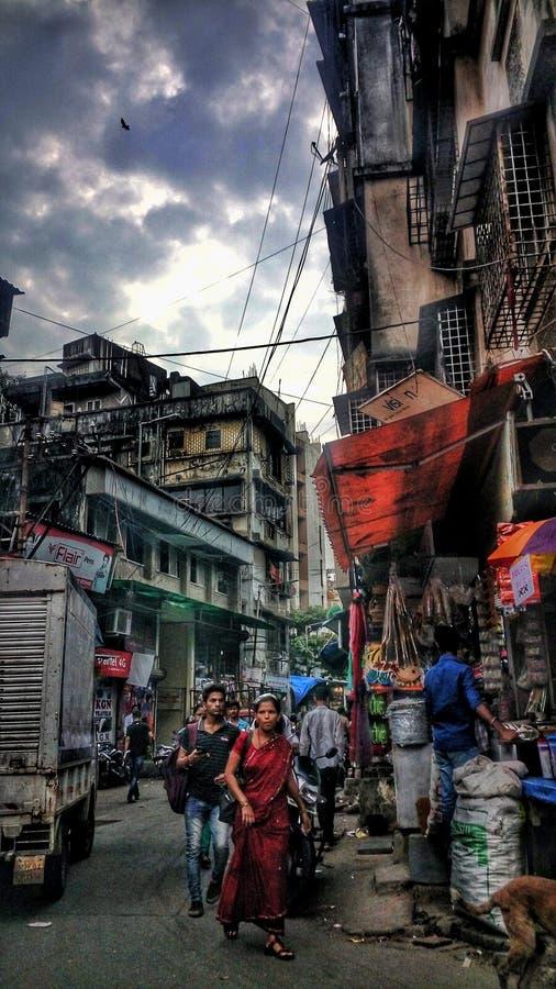 Précipitation de ville image libre de droits