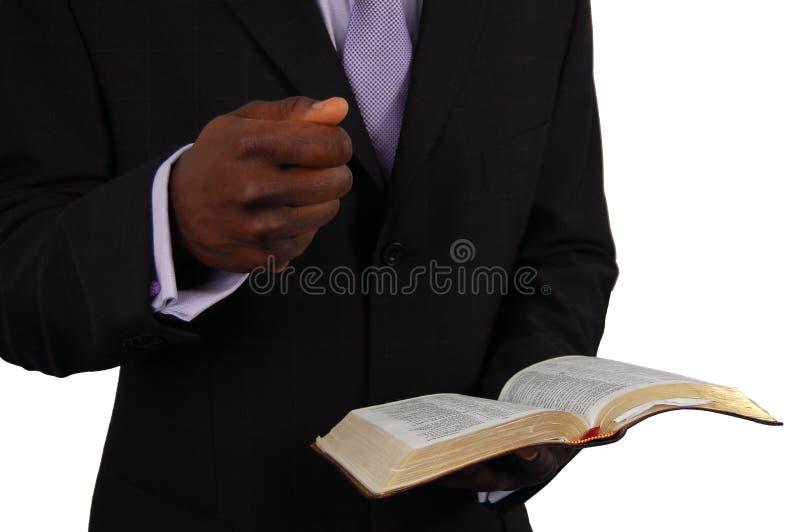 Prédication de pasteur photo libre de droits