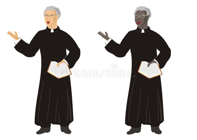 Prédication ordonnée de ministre illustration de vecteur