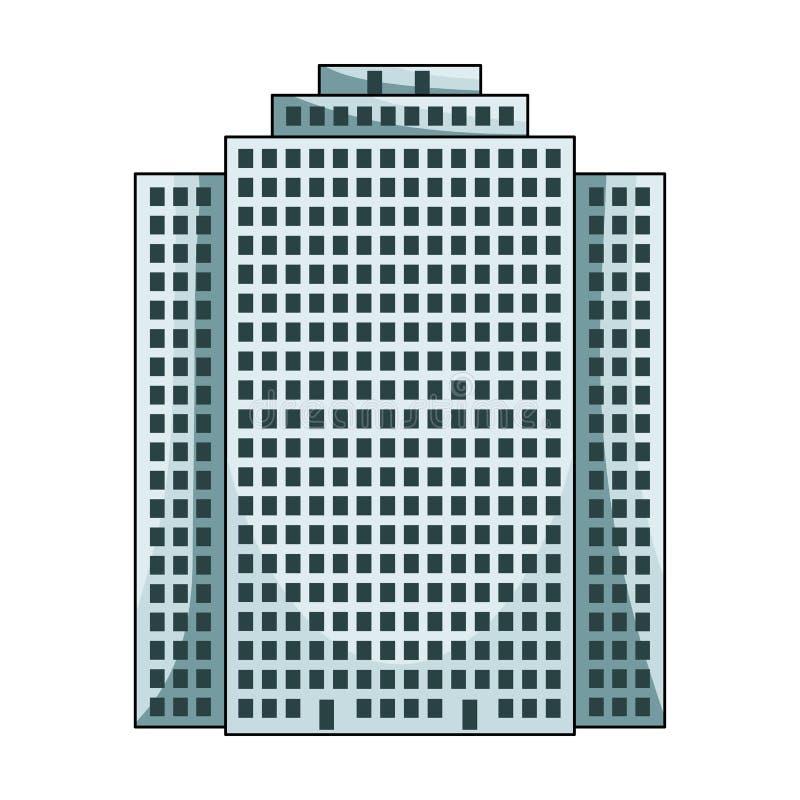 Prédio, arranha-céus, único ícone do corretor de imóveis na Web da ilustração do estoque do símbolo do vetor do estilo dos desenh ilustração royalty free