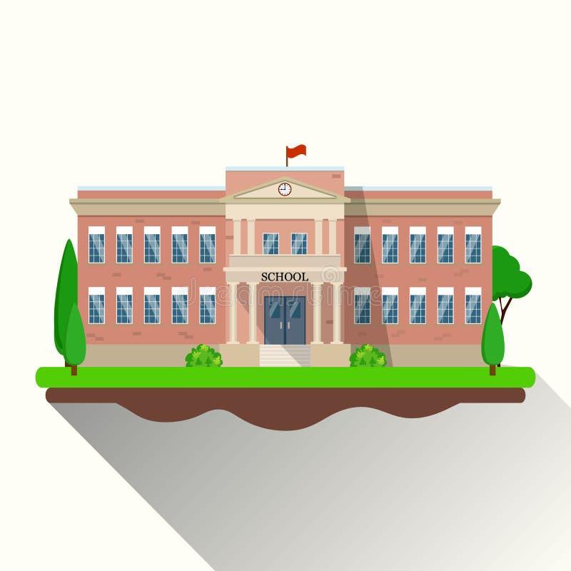 Prédio da escola moderno, ilustração royalty free