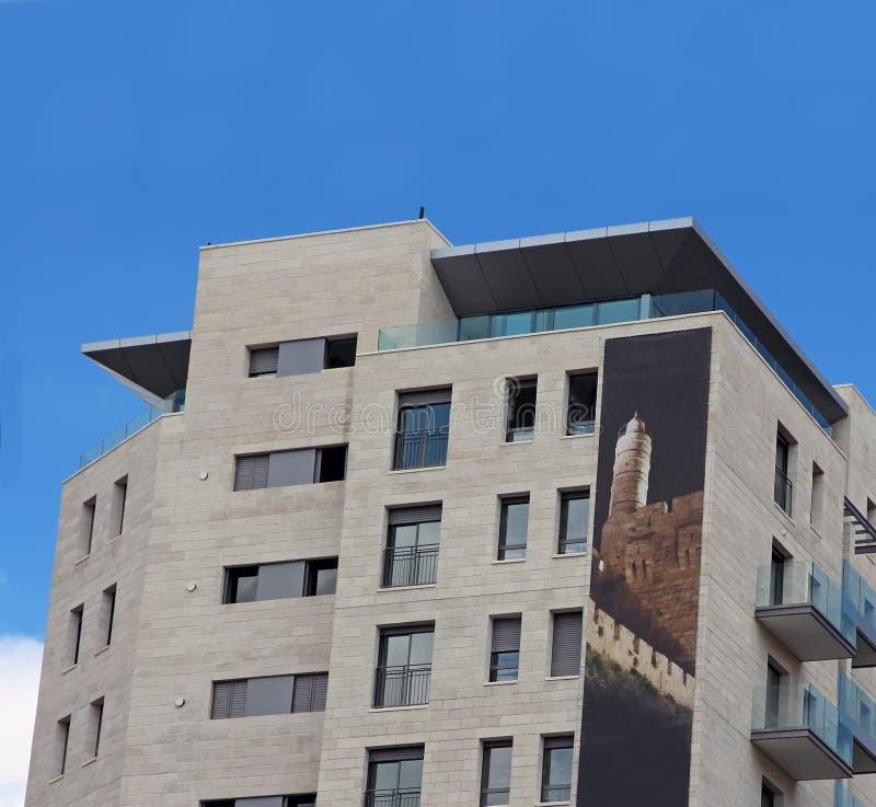 Prédio de apartamentos moderno foto de stock royalty free