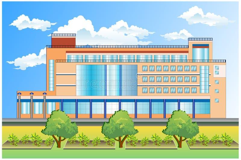 Prédio de escritórios ilustração stock