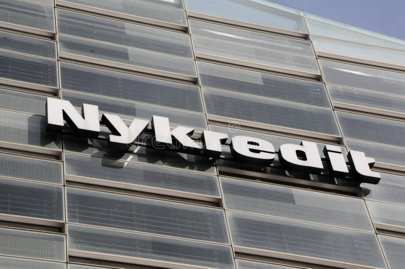 Prédio de escritórios da cabeça do banco de Nykredit em Copenhaga foto de stock royalty free