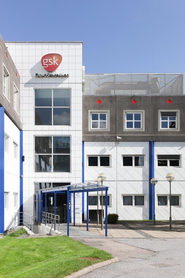 Prédio de escritórios de GlaxoSmithKline em Brondby, Dinamarca foto de stock royalty free