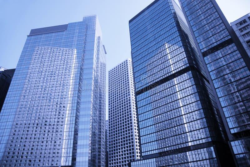 Prédio de escritórios moderno, Hong Kong, China imagem de stock