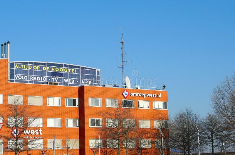 Prédio de escritórios ocidental de Omroep imagens de stock royalty free