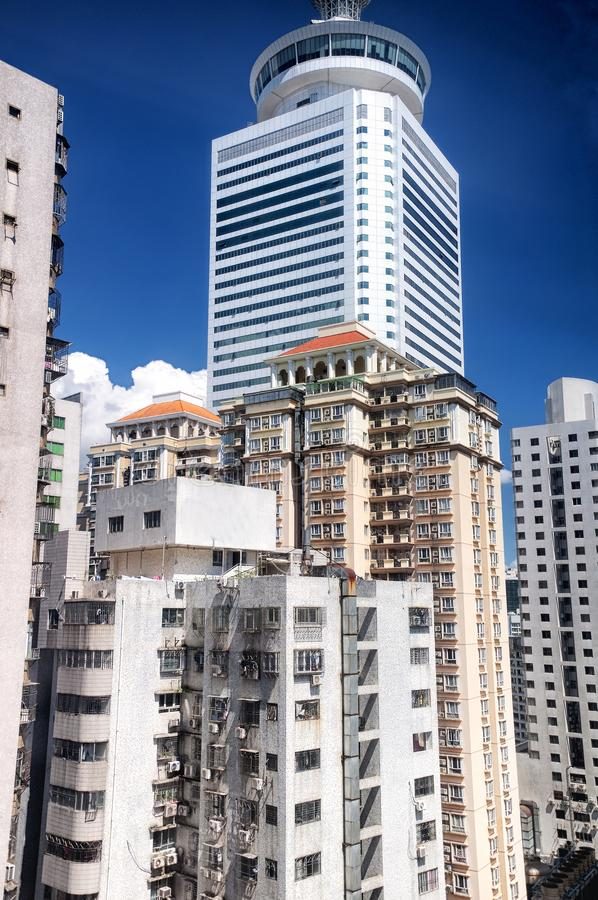 Prédios de apartamentos de Shenzhen China ensolarados imagens de stock royalty free