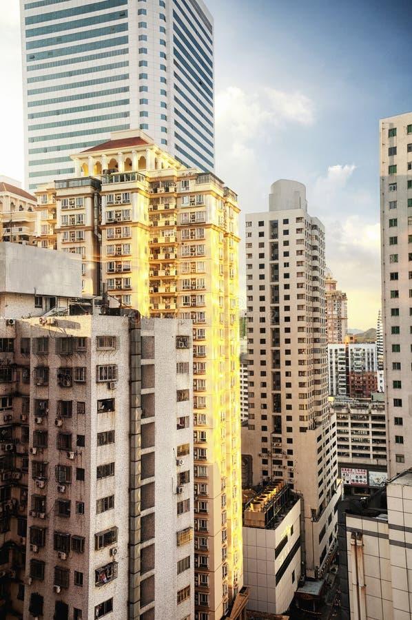 Prédios de apartamentos de Shenzhen China ensolarados fotos de stock royalty free
