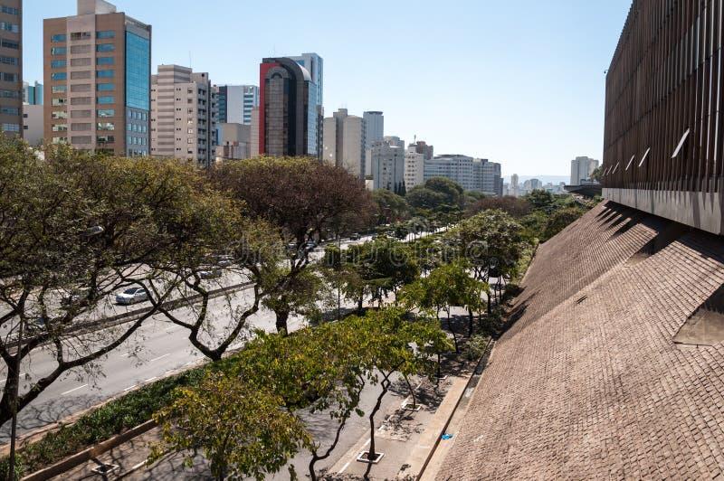 Prédios de escritórios da cidade de Sao Paulo imagens de stock royalty free