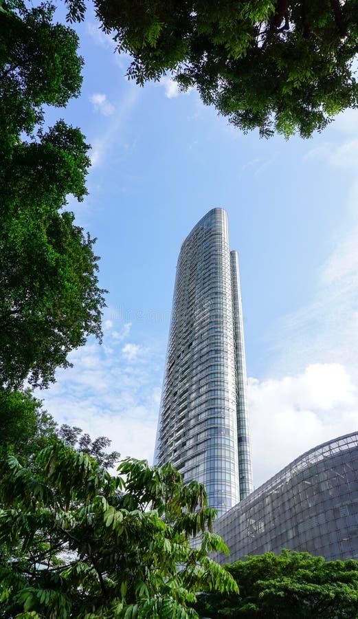 Prédios de escritórios em Geyland, Singapura fotos de stock