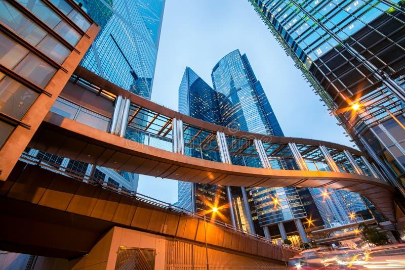 Prédios de escritórios em Hong Kong central imagem de stock royalty free