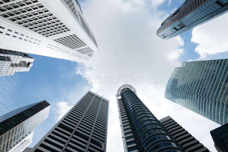 Prédios de escritórios modernos em Singapura imagem de stock