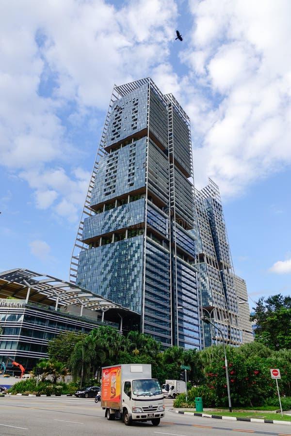 Prédios de escritórios situados em Bugis, Singapura fotos de stock