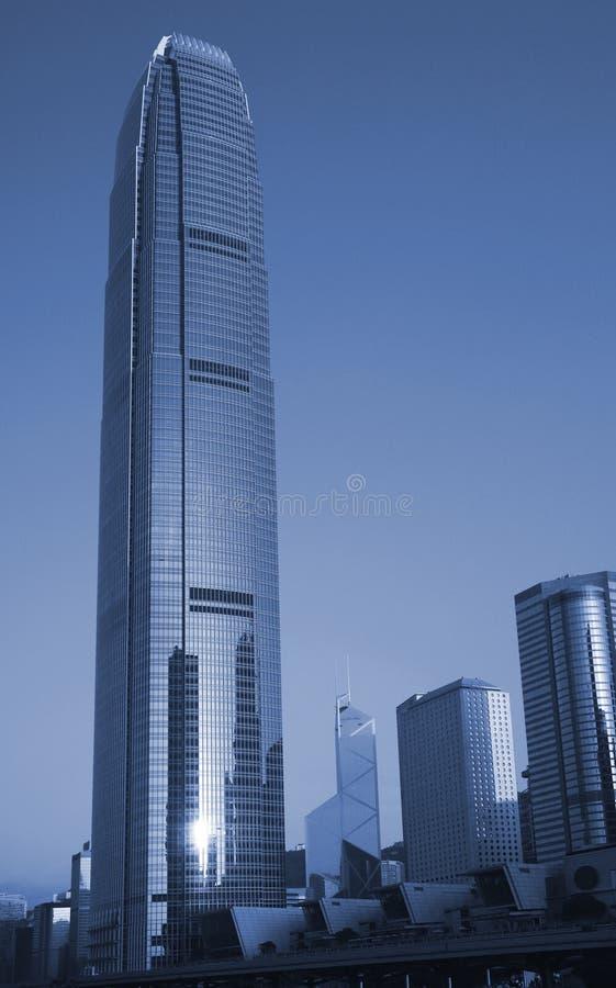 Prédios de escritórios urbanos, Hong Kong, China fotografia de stock royalty free