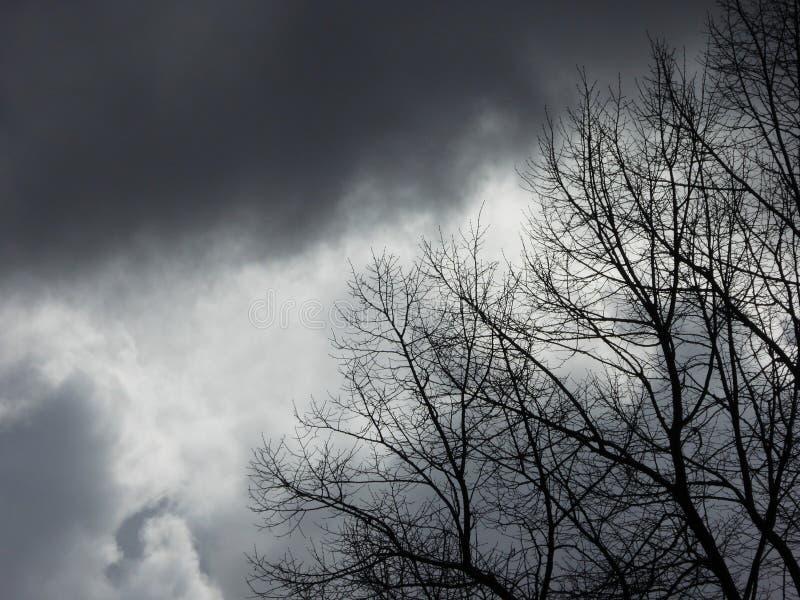 Prémonition - cieux orageux photographie stock