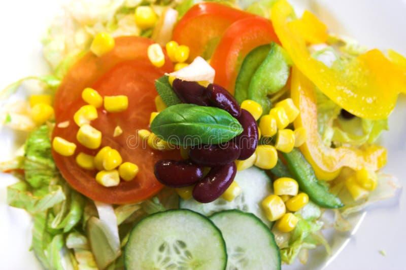 Préparation colorée de salade images stock