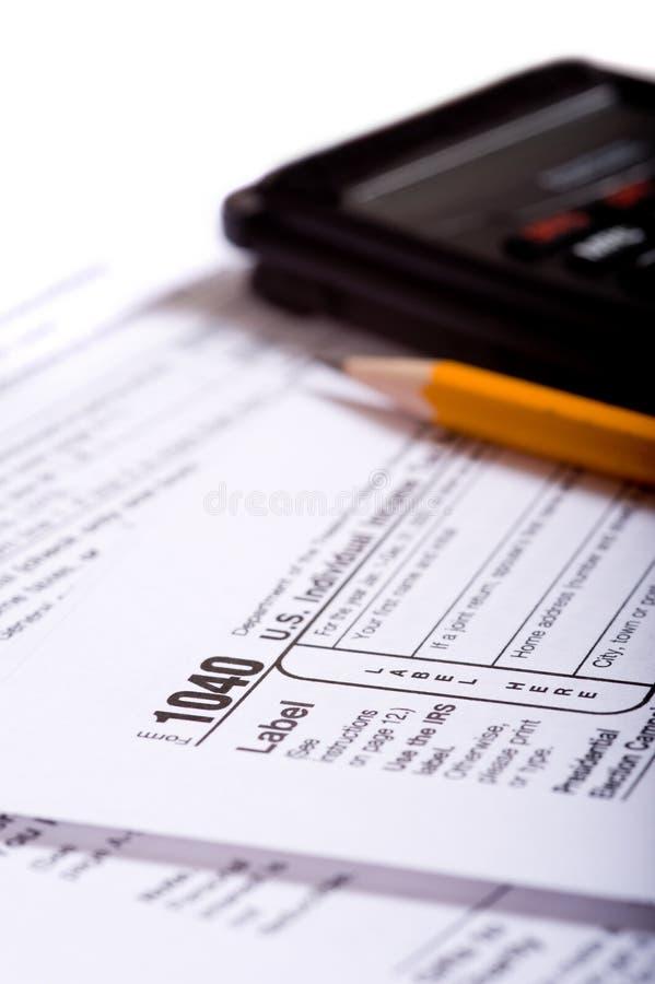 Préparation d'impôts photos libres de droits