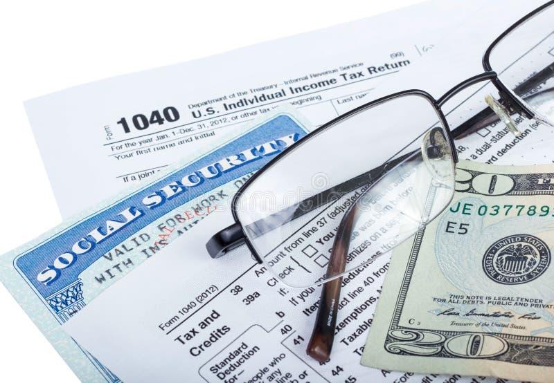 Préparation d'impôts image libre de droits