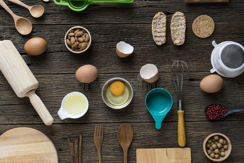 Préparation de l'ingrédient de nourriture avant la cuisson photo stock